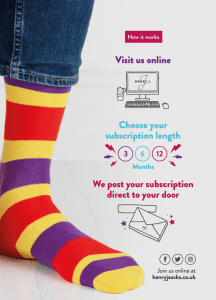 How a sock subscription works
